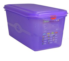 Allergen Colour Coded Purple Food Container - 1/3GN 6 Ltr