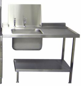 Parry Dishwasher Dirties Table Stainless Steel - W2100xD700xH880 - DWD2100