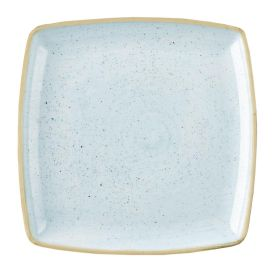 Churchill Stonecast Deep Square Plate Duck Egg Blue 260mm - DK511 - pk 6