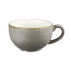 Churchill Stonecast Cappuccino Cup Peppercorn Grey 12oz - DK565 - pk 12
