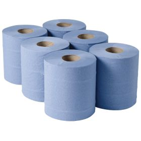 Jantex Centrefeed Blue Roll 2ply 120m 6 Pack
