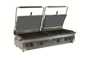 Roller Grill D'PANINI FT Large Double -  Flat Top & Base Plates Contact Grill