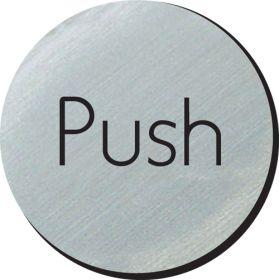 Push 75mm disc silver finish