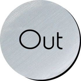 Out 75mm disc silver finish
