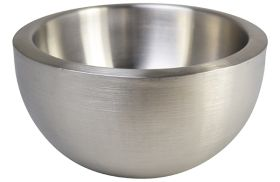 Stainless Steel Double Walled Salad Bowl 25cm