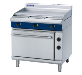 Blue Seal E506A - Electric Range with Smooth Griddles & Static Oven 900mm