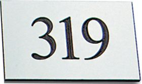 Silver 30x50mm engraved plaque.