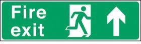 Fire exit arrow up. 150x450mm S/A