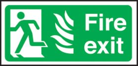 Fire Exit left Hospital. 150x300mm S/A