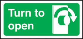 Turn right to open left. 100x200mm P/L