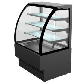 Sterling Pro EVO90 Chilled Patisserie Counter Curved Glass - Black