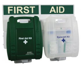 British Standard Compliant Catering First Aid Kit & Eye wash point kits 21 - 50 people