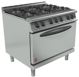 Falcon Dominator Plus G3101D - Commercial Gas Range 6 Burner - Drop Down Door