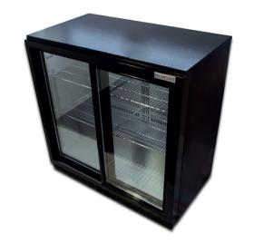 Belmont BC9027K - Sldiding Door Black Bottle Cooler