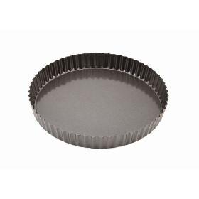 Carbon Steel Non-Stick Fluted Quiche Tin 25cm - Genware