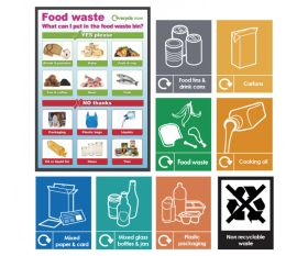 Food Waste Recycling Sign Pack - FWRPK 9 Signs