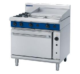 Blue Seal Evolution G56B - Gas 2 Burner Range, 600mm Griddle with Gas Convection Oven 900mm - Natural Gas