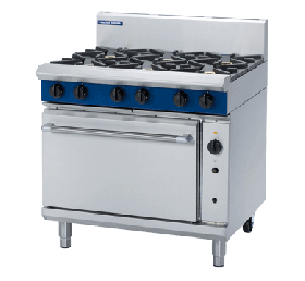 Blue Seal Evolution G56D - Gas 5 Burner Range with Gas Convection Oven 900mm - LPG Gas
