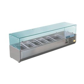 Polar GD876 ountertop Prep Fridge 5x 1/4GN & 1x 1/2GN