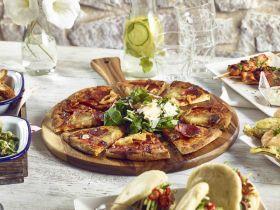 Acacia Wood Pizza Paddle 33cm Dia - Genware