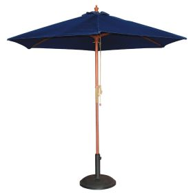 Bolero Round Outdoor Umbrella 2.5m Diameter Navy Blue