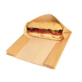 Vegware Compostable Kraft Panini Bags  - Pk 500