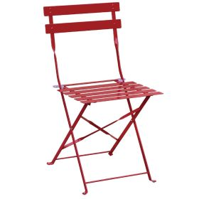 Bolero Pavement Style Steel Chairs Red (Pack of 2)   GH555