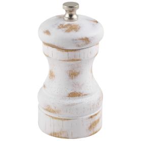 White Wash Salt/Pepper Grinder 10cm - Genware