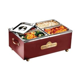 King Edward BM2V/CLA - Wet or Dry 1/1 GN Traditional Bain Marie - Claret