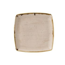 Churchill Stonecast Deep Square Plate Nutmeg Cream 260 x 260mm - GR945 - pk 6