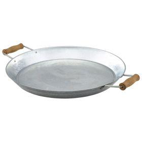 "Galvanised Steel Platter 14""/35.5cm - Genware"