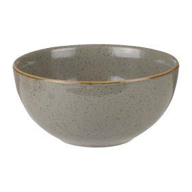 Churchill Stonecast Round Soup Bowls Peppercorn Grey 132mm - HC833 - pk 12