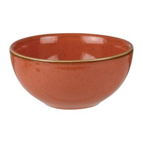 Churchill Stonecast Spiced Orange Soup Bowls 132mm - HC836 - pk 12