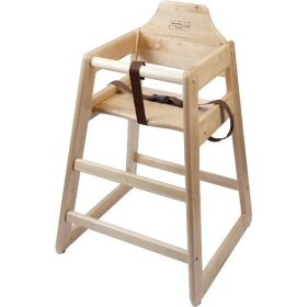 Wooden High Chair - Light Wood - Genware
