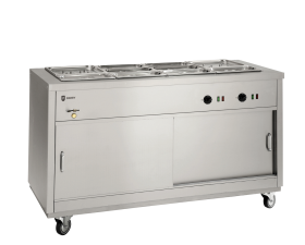 Parry HOT15BM - Electric Hotcupboard with 4 x 1/1 gn Bain Marie Top
