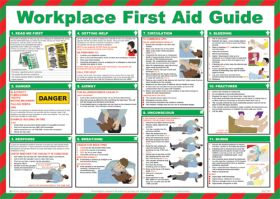 Workplace First Aid Guide Poster. 420x590mm
