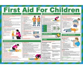 First aid for children poster. 420x590mm - HSP13