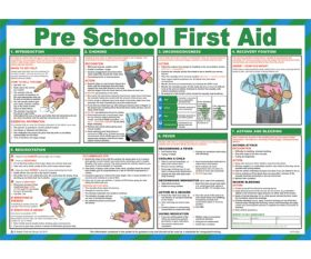 Pre school first aid poster 420x590mm