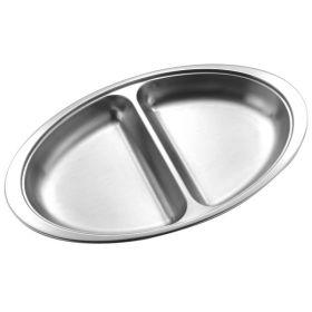"Vegetable Dish 20x14x3.2cm / 8"" 2 Div"