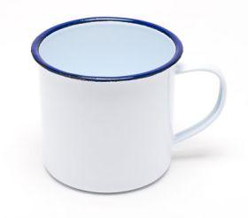 Enamel Mug Blue & White 8cm Diameter