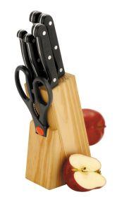 Wooden Knife Block 6 Pc