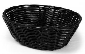 "Rattan Basket Oval 23cm / 9"" Black"
