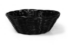 """Rattan Basket Round 18cm / 7"""" Black"""