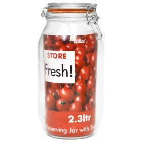 "Cliptop Glass Preserving Jar 25.5cm/10"""