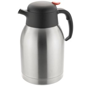 Vacuum Jug 2 Litre - Push Button Stainless Steel
