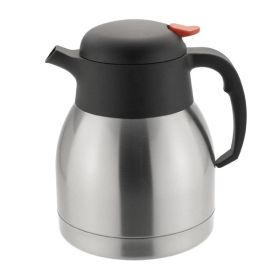 Vacuum Jug 1 Litre - Push Button Stainless Steel