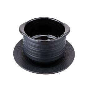 "Contra Ribbed Black Soup Bowl 12cm / 5¾"""