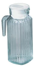 Pk 6 Glass Ribbed Jug & Lid 1.2 Ltr/2.5pt