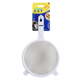 "White Plastic SieveS/S Mesh 15cm / 6"""