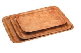 Woven Wood Rect Tray 35 x 23cm